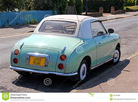 nissan blue car nissan figaro vintage car stock photo image 40705482