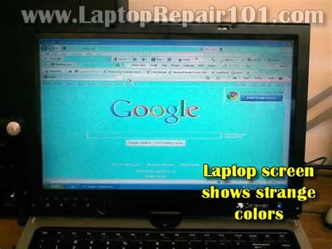 laptop screens show strange colors. what could be wrong