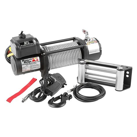 rugged ridge winches rugged ridge 174 15100 40 10 500 lbs spartacus hd series winch with steel cable