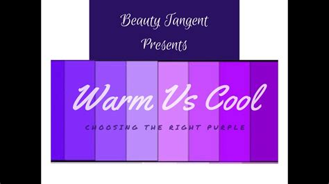 warm purple warm vs cool shades of purple youtube