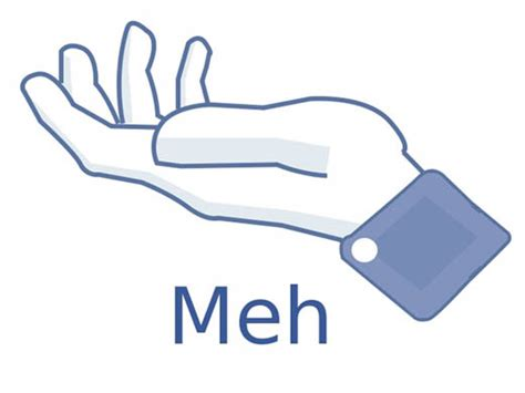 Meh Face Meme - facebook s meh button gearfuse