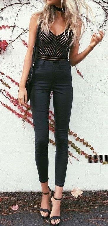 hottest trends   wear black bodysuit outfit