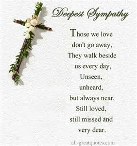 Comforting Poems For Loss Of Loved One by Sympathy For The Loss Of A Loved One Words Poems