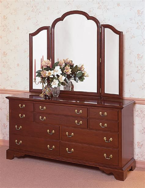 cherry triple dresser bedroom cherry triple dresser