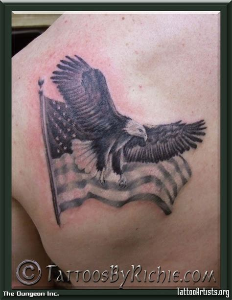 eagle and flag tattoo www imgkid com the image kid has it