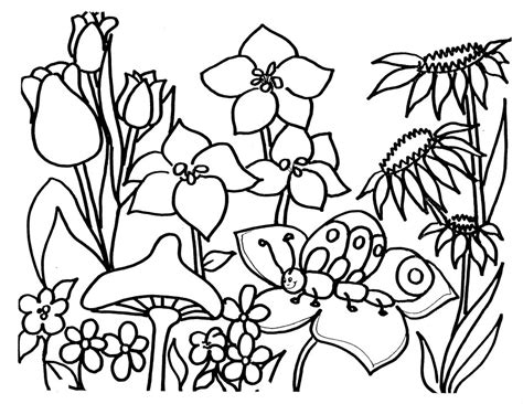 garden coloring coloring pages for flower garden coloring pages for