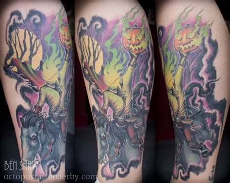 headless horseman tattoo headless horseman sleepy hollow tattoos
