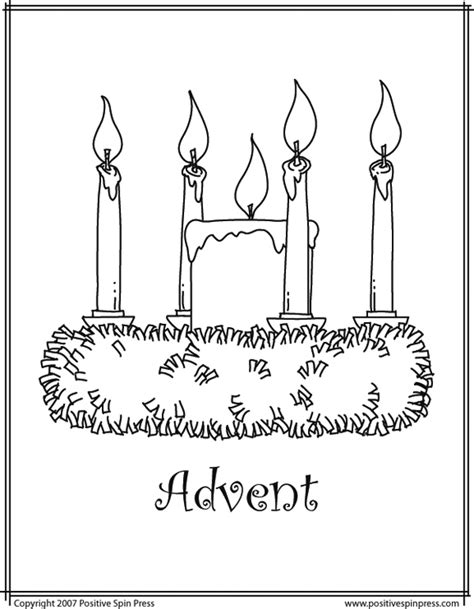 Advent Coloring Page free coloring pages of advent wreath candles