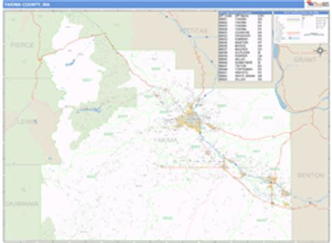 zip code map yakima county yakima county wa carrier route wall map basic style by