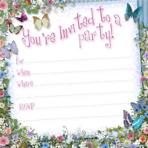 birthday invitations templates free printable tea printable kits