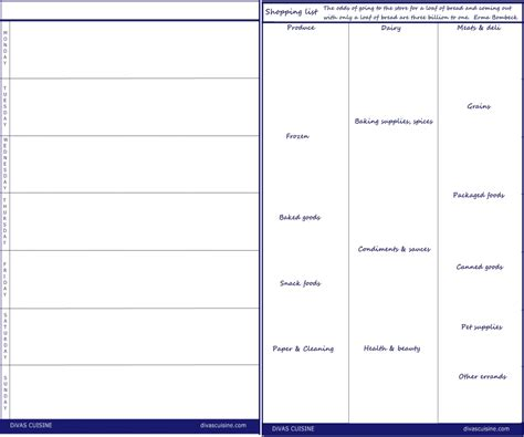 printable blank menu templates calendar template 2016