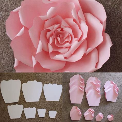 Make Large Paper Flowers - here are the templates that are used to make a beautiful