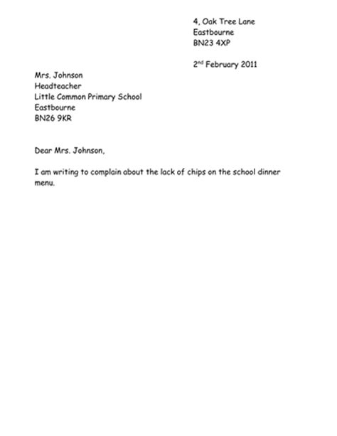 Letter Of Complaint Ks2 Formal Letter Of Complaint By Fairykitty Teaching Resources Tes