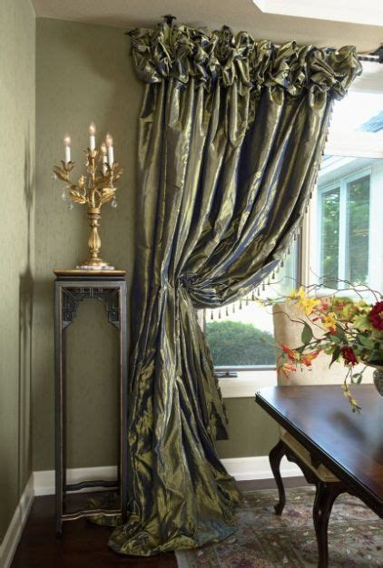 Formal Dining Room Drapes Rowley Company Ruched Headings