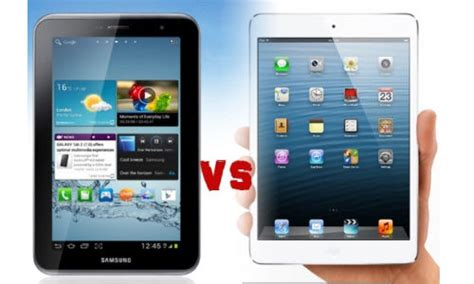 Tablet Samsung Mini apple mini vs samsung galaxy tab 2 p3100 mini