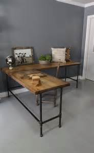 L Table Ideas 28 Stylish Industrial Desks For Your Office Digsdigs