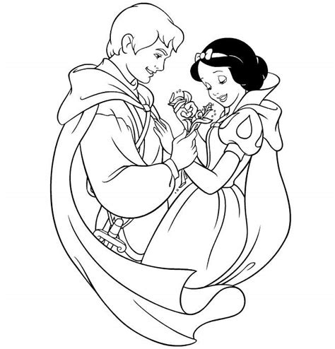Snow White And Prince Charming Coloring Pages Coloring Pages Images Of Princess Snow White Printable