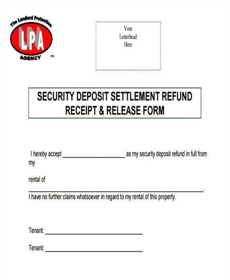 rental deposit receipt template 36 free receipt templates