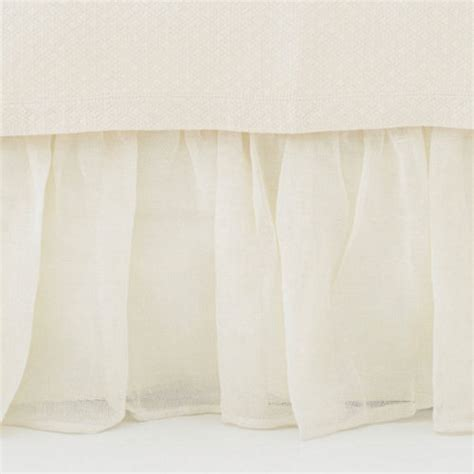 ivory bed skirt pine cone hill linen mesh ivory bed skirt ships free