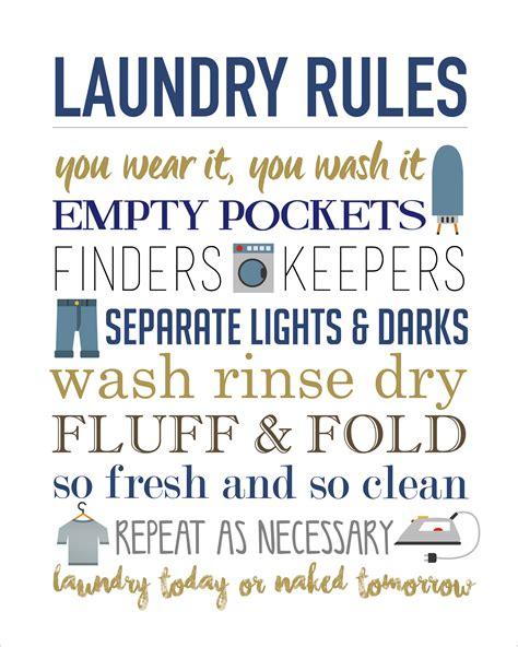 printable laundry room quotes laundry rules printable free easy and print ready