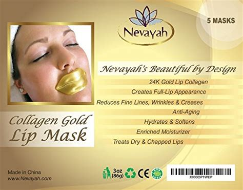Collagen Lip Mask 5 masks 24k gold collagen lip treatment mask patches