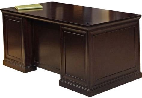 espresso pedestal executive office desk