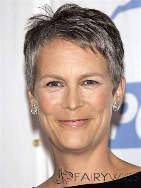 Jamie Lee Haircut Styles Maintenance | great jamie lee curtis short straight full lace real human