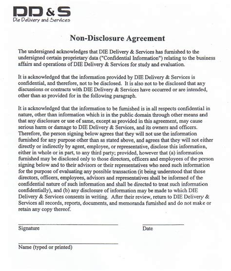 non disclosure agreements best resumes