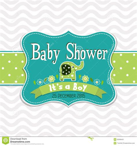 template greeting card baby shower vector stock vector
