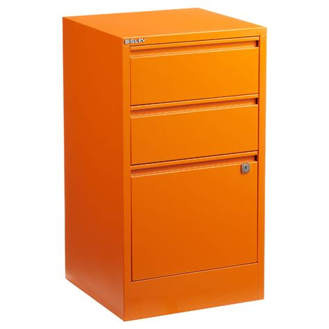 Orange Filing Cabinet Bisley Orange 2 3 Drawer Locking Filing Cabinets The Container Store