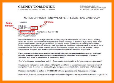 Insurance Renewal Letter Template 7 Insurance Renewal Letter Sle Emt Resume
