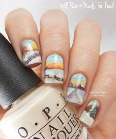 nail art landscape tutorial nail art country style on pinterest camo nails