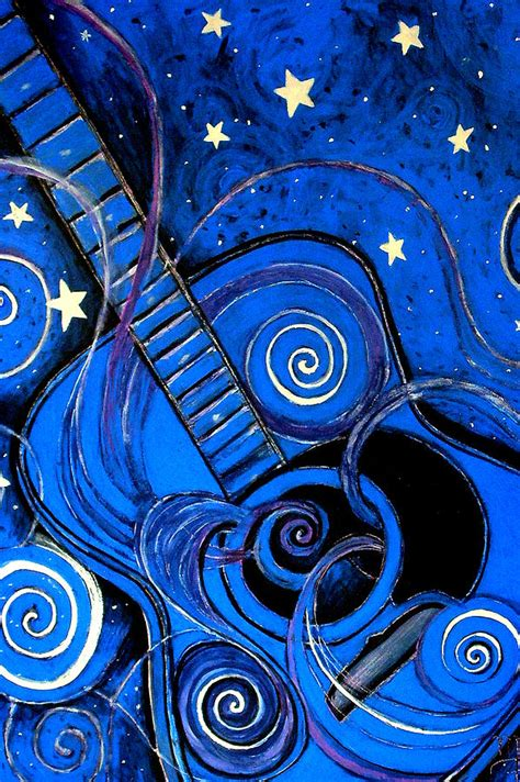 blue painting s melody a k a blue guitar by furlow