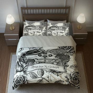 day of the dead bedroom ideas shop skull comforter on wanelo