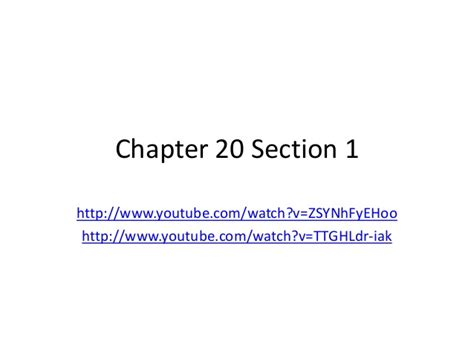 us history chapter 20 section 1 chapter 20 sect 1