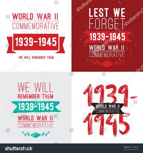 world war 2 typography world war ii commemorative day vector stock vector