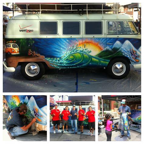 spray painting vans study paint a vintage 1965 vw for verizon fios