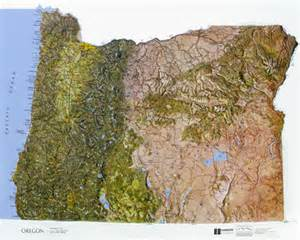 oregon state raised relief map ncr color relief