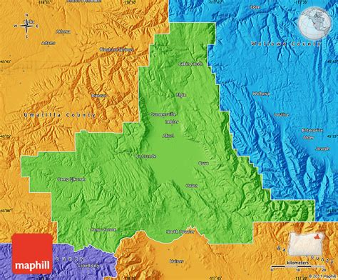 map of union oregon political map of union county