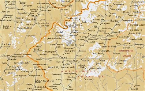 hindu kush map maps of the hindu kush region in pakistan and afghanistan