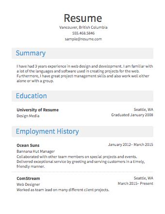 Free Easy Resume Builder by Easy Resume Builder Resume Builder