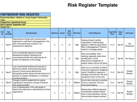 hazard risk register template hazard risk register template image collections template