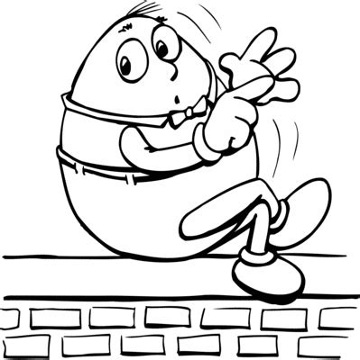humty dumpty colouring pages