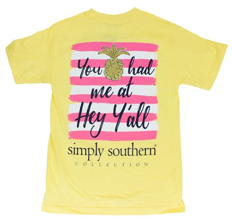 s simply southern southern new simply southern preppy t shirt you had me at hey y