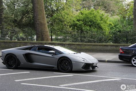 lamborghini aventador lp700 4 roadster dark silver lamborghini aventador lp700 4 roadster 19 april 2014 autogespot