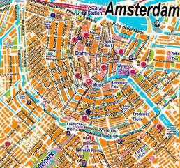 House Wall Murals 1 amsterdam map great map of centrum from off the