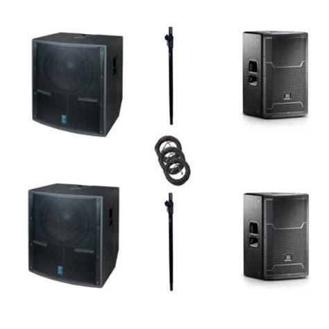 rental jbl/yorkville 8000watt speaker pkg with subs