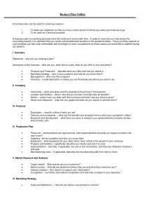 business plan template outline dissertation business plan
