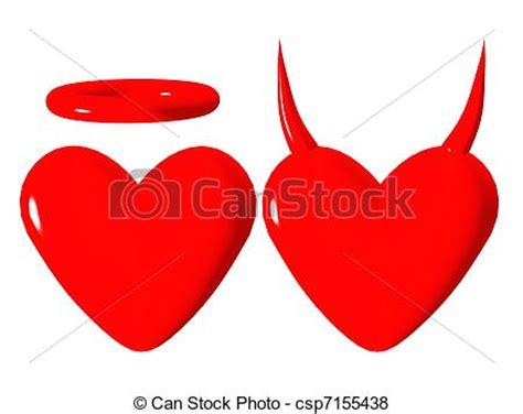 imagenes de corazones malos stock de ilustraciones de bueno coraz 243 n malo coraz 243 n