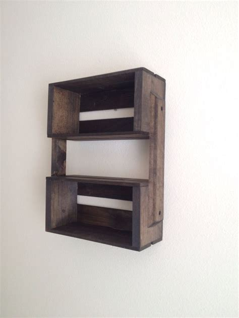 wooden crates as shelves sale small wooden crate hanging shelf wall fixture by